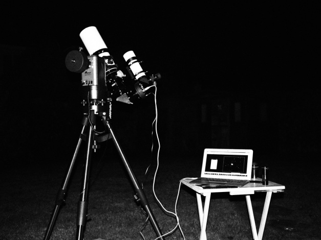 Altair Astro 80mm refractor, Atik Titan CCD and MacBook Air