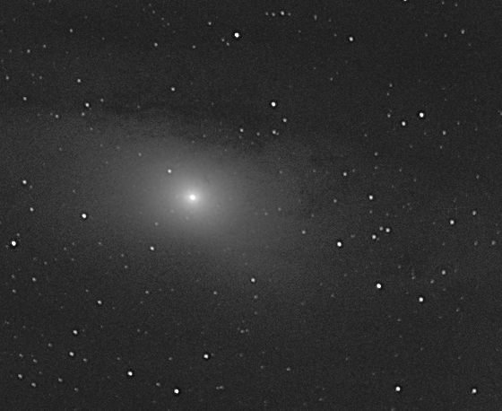 M31 Andromeda Galaxy.  CCD Image processed in PixInsight