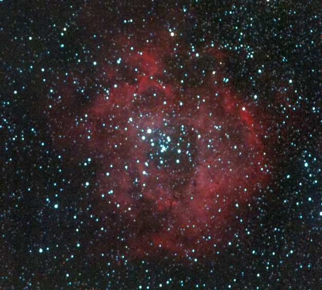 A closer view of the Rosette nebula